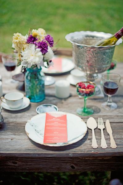 Colorful Rustic Tabletop Wedding Ideas
