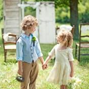 Country Rustic Wedding Ideas Flower Girl Ring Bearer