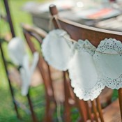 Doily Chair Decoration