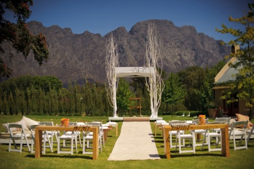Franschhoek South Africa Mountain Wedding Altar