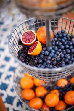 Fresh Fruit Wedding Food Display