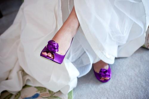 Funky Bridal Shoes Purple Kate Spade
