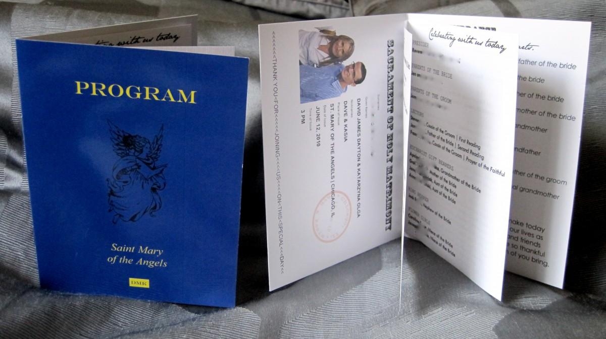 passport wedding programs