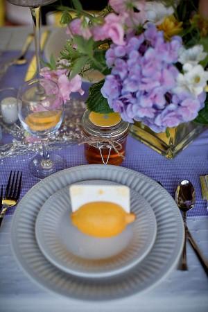 Lemon Place Cards Wedding Decor