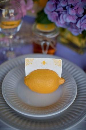 Lemon Wedding Place Cards