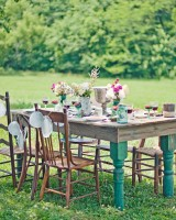 Mismatched Vintage-Inspired Table Wedding Ideas