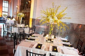 Mixed Round and Square Seating at Reception