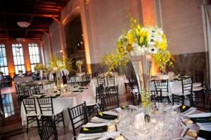 Modern-Yellow-Black-White-Wedding-Reception-Miami