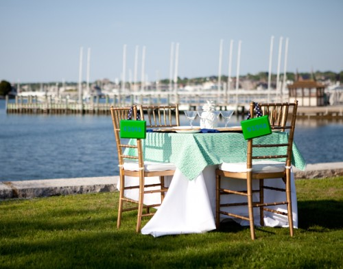 Newport RI Blue and Green Rehearsal Dinner Couture Parties-10