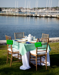 Newport RI Blue and Green Rehearsal Dinner Couture Parties-12