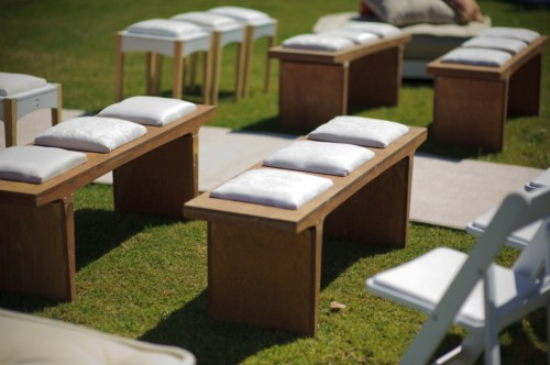 Outdoor Wedding Ceremony Benches