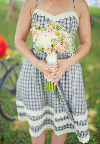 Peach and Green Garden Bouquet