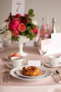 Pink Breakfast Wedding Table