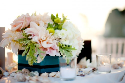 Pink Cluster Centerpieces