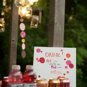Pink and Red Drink Display