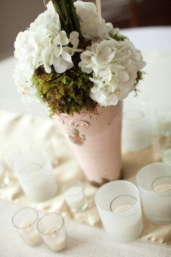 Pink and White Shabby Chic Centerpiece