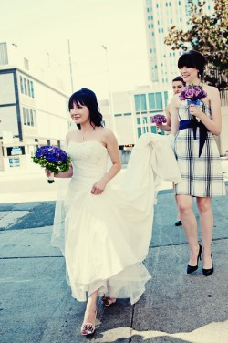 Plaid Bridesmaids Dress
