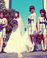 Plaid-Bridesmaids-Dresses