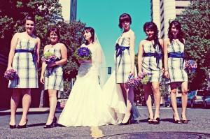 Plaid-Bridesmaids-Dresses