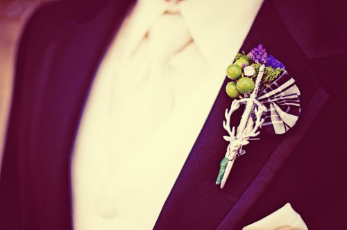 Plaid Fabric Boutonniere
