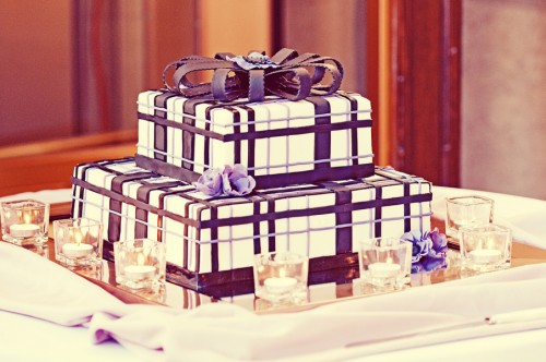 Plaid Wedding Cake