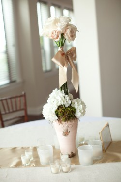 Potted Moss Centerpieces