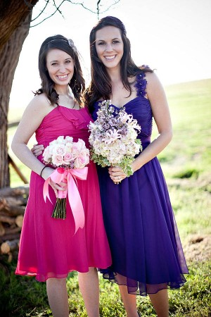 Purple Bridesmaids Dresses