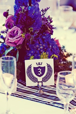 Purple and Blue Centerpieces
