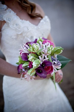 Purple and Green Orchid Bouquet