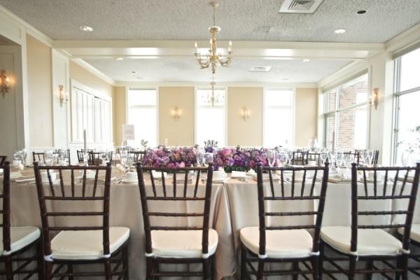Purple And White Wedding Reception Elizabeth Anne Designs The