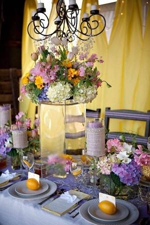 Purple and Yellow Spring Wedding Ideas