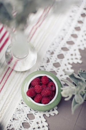 Raspberries in Dish