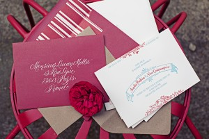 Red Envelopes with White Calligraphy