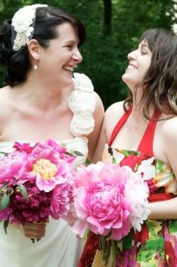 Red Floral Bridesmaids Dress