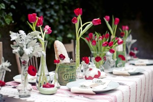 Red Tulip Centerpieces