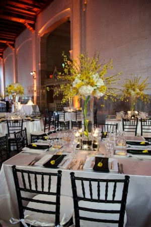 Square Tables at Wedding Reception