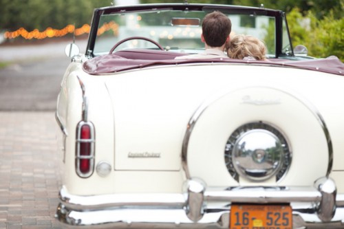 Vintage Packard Car Wedding