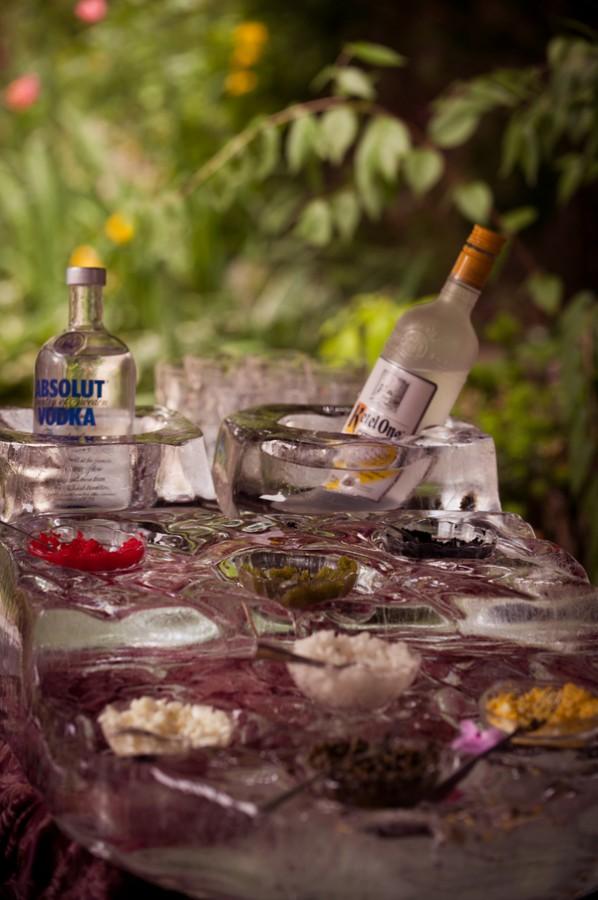 Caviar bar wedding