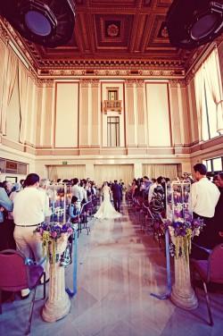 Purple And Plaid Sacramento Grand Ballroom Wedding