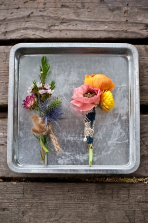 Whimsical Wildflower Boutonnieres