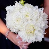 White Dahlia Bridesmaids Bouquet