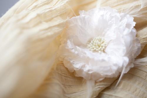 White Silk Flower Headpiece