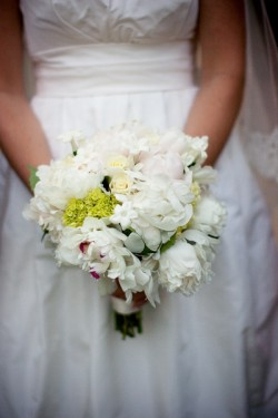White Spring Bridesmaids Bouquet