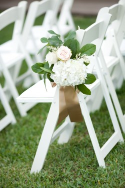 White and Green Aisle Decor