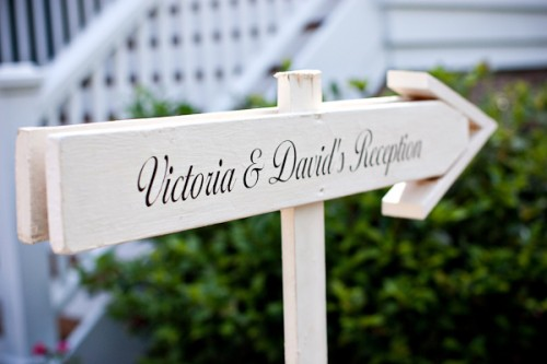 Wood Wedding Reception Arrow