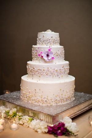 Beaded Wedding Cake