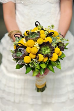Billy Ball and Monkey Tail Bridal Bouquet