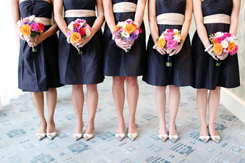 Black-Bridesmaids-Dresses-with-White-Sashes