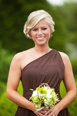Brown-Bridesmaids-Dress
