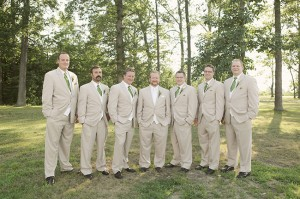 Brown-Suit-with-Green-Tie-Groomsmen